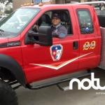 Un bombero mexicano en los suburbios estadounidenses