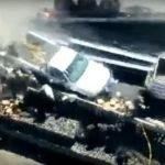 Trailer arrolla a reporteros y policías que cubrían accidente (Video)