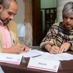 Jessica Cabal firma convenio de colaboración con DIF estatal