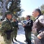 Supervisa alcalde junto con personal militar la Base de Operaciones Mixtas (BOM)
