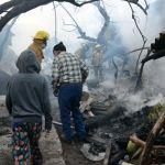 Viejitos son rescatados de incendio en Cuerámaro