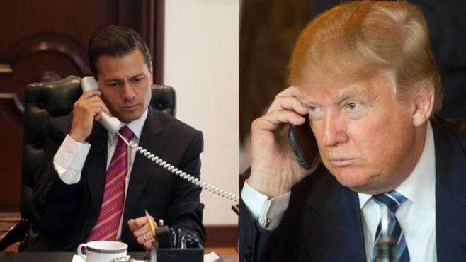 Photo of Trump y Peña Nieto charlan vía telefónica durante una hora