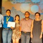 Alumnos UG obtienen medalla de oro y plata UG en Olimpiada Nacional de Biología