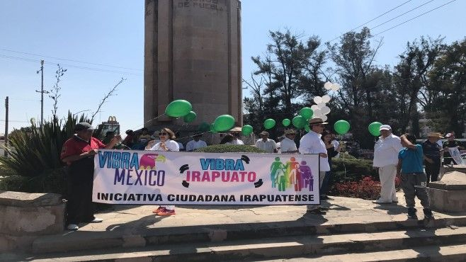 """Photo of """"Vibra Irapuato"""": marchan en Irapuato para exigir respeto a México"""