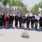 Entrega alcaldesa de Pueblo Nuevo chalecos antibalas a policías
