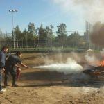 Reciben elementos de seguridad pública capacitación sobre incendios y uso de extintores