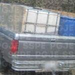 Recuperan un aproximado de 1,500 litros de combustible, a bordo de una camioneta robada