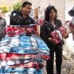 Entrega de cobijas en Huanímaro