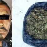 Cae presunto distribuidor con 500 dosis de droga al parecer mariguana