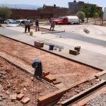 Continúan los trabajos de construcción de Cancha de Cachibol en el Centro Gerontológico
