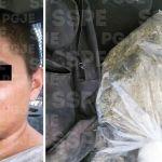 Aseguran en Duarte, en León, a un hombre con 2,500 dosis de mariguana