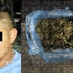 Detienen en León, a un hombre con un aproximado de mil dosis de mariguana