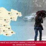 Se prevé que continúen ligeras lluvias en algunas regiones del estado de Guanajuato