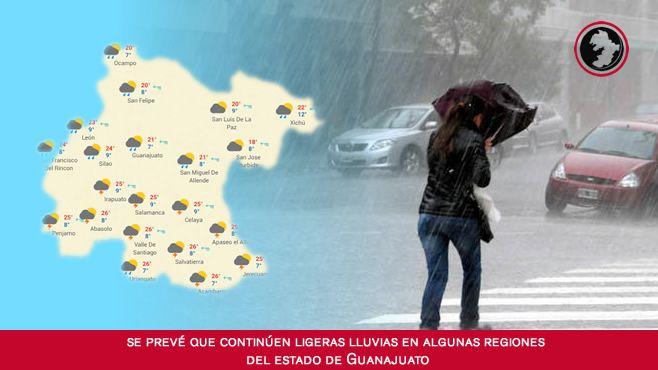 Photo of Se prevé que continúen ligeras lluvias en algunas regiones del estado de Guanajuato