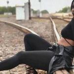 Tren arrolla a joven embarazada en plena sesión de fotos