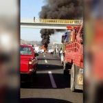 Fallecen tres personas quemadas, en un choque desigual