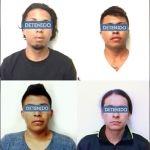 Capturan a cuatro homicidas, que están formalmente presos