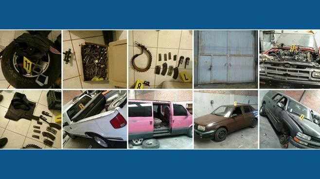 Photo of Aseguran arsenal balístico, vehículos robados y miles de cosméticos saqueados al ferrocarril