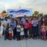 Moy Cortéz  inaugura la calle  en Colonia Tepetates