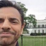 Eugenio Derbez envía mensaje a Trump afuera de la Casa Blanca