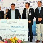Empresa ISUI entrega donativo de Artículos Educativos a Telesecundaria