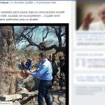 Diputada del PVEM acusa a alcalde de Abasolo de derribar árbol y publicitarlo