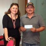 Apoya Larisa a la comunidad La Guadalupita para mejorar su servicio de drenaje