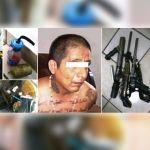 Aseguran arsenal, artefactos explosivos y droga, durante cateo a vivienda en Abasolo; hay un detenido