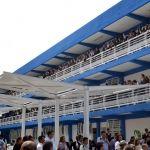 Entregan infraestructura educativa y cancha de cachibol en Huanímaro