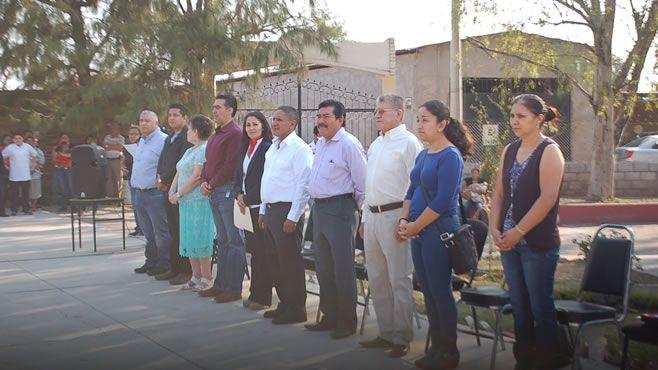Photo of Celebran acto cívico en la primaria de la comunidad Pedregal de Arriba