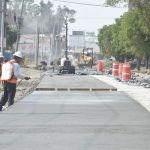 Inició el colado de concreto hidráulico en bulevar solidaridad, en el tramo del paso a desnivel a las animas