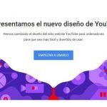 """YouTube presenta su nuevo diseño """"más simple y limpio"""""""