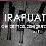 70% de armas aseguradas en Irapuato son hechizas
