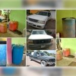 Incautan de inmueble en Irapuato cientos de litros de combustible ilegal, así como vehículos utilizados para el trasiego