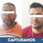 PGJE y SSPE capturan a dos homicidas, en Apaseo el Alto al interior de una cenaduría mataron a tres personas