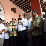 Alcalde supervisa avance de reposición de techo del mercado Hidalgo