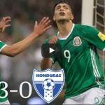 Golea la Selección Méxicana 3-0 a Honduras y pone un pie en Rusia 2018
