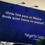 Se burla Margarita Zavala de error ortográfico de su equipo en espectacular