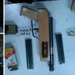 Detienen a 2 con armas de fuego, cartuchos y balas
