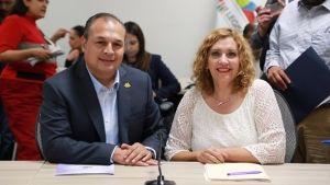 Diputada Verónica Orozco y diputado Guillermo Aguirre