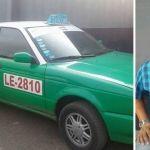 Manejaba taxi robado