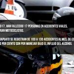 En Irapuato 12 de 17 fallecidos en accidentes en 2017, son motociclistas
