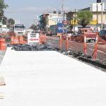 Inicia colado de losas de concreto hidráulico en el Bulevar Los Reyes