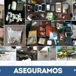Con orden de cateo PGJE y SSPE logran asegurar vehículos robados, droga y armas de fuego en Celaya y Villagrán