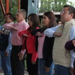 Incineran bandera y realizan abanderamiento de escolta en la Primaria de la Colonia Villafuerte