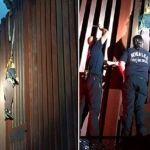 """""""Polleros"""" abandonan a mexicana colgada en muro fronterizo con EU"""