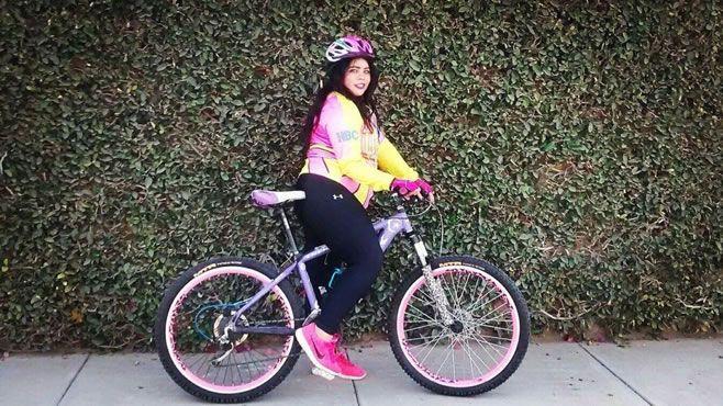 Photo of Belinda Gutiérrez, activista del ciclismo en Irapuato