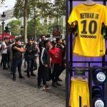 Locura en París: se agotaron las camisetas de Neymar