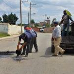 Rehabilitación permanente en carreteras y calles de todo el municipio