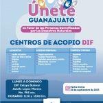 DIF Celaya centro de acopio  para damnificados